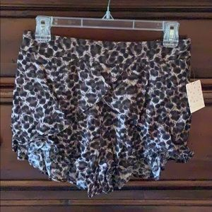Free people Leopard print shorts